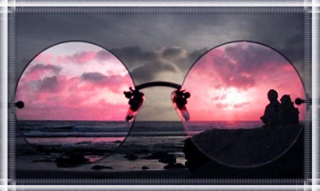 Розовые очки для любимого парня.