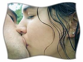 Поцелуй взасос.