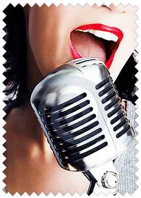 Голос в микрофоне