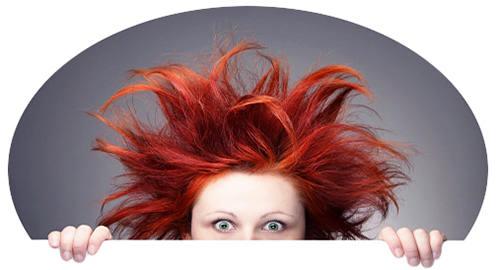 Волосы электризовались