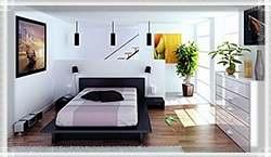 Спальня с цветами