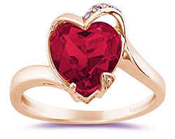 Кольцо с сердечком