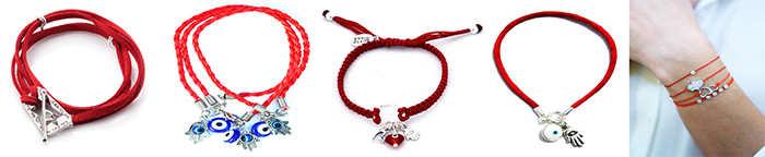Изделия из красных нитей