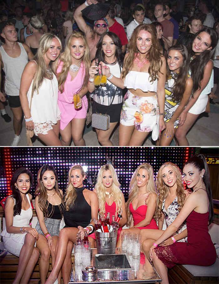 Тусовка девушек в клубе